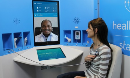 Connected HealthCare allows the doctor to consult and treat the patient at home