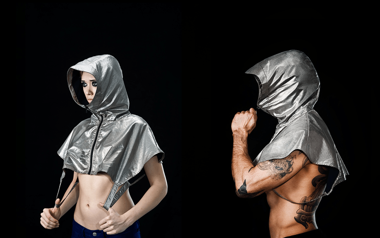 stealth smart clothing - anti-drone hoodie and burqa as well as an accessory that can instantly zero out your phone's signal