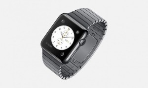 apple watch polished case made from stainless steel with black finishes