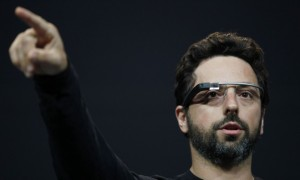 Sergey Brin launching Google glass