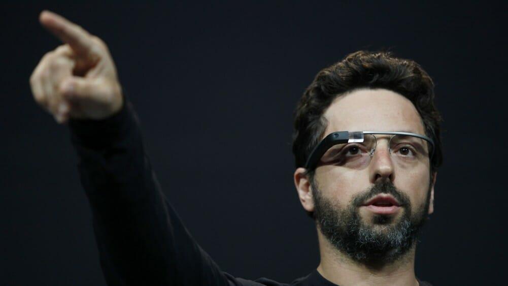 Sergey Brin launching Google glass