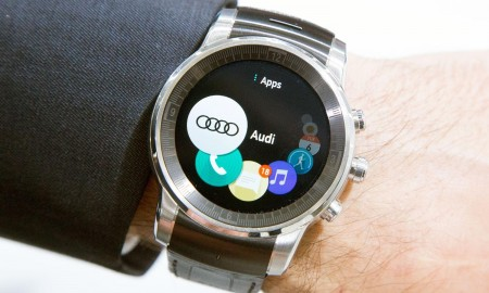 lg webos smartwatch for audi displayed at ces 2015 - copyright wtvox 2015