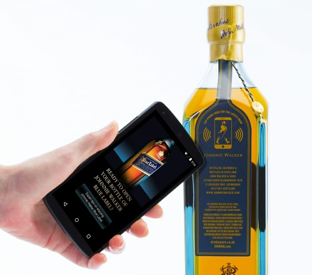 Johnnie walker smart bottle launched at mcw 2015 in Barcelona