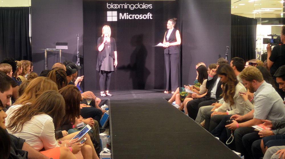Microsoft in fashion technology and catwalk scene