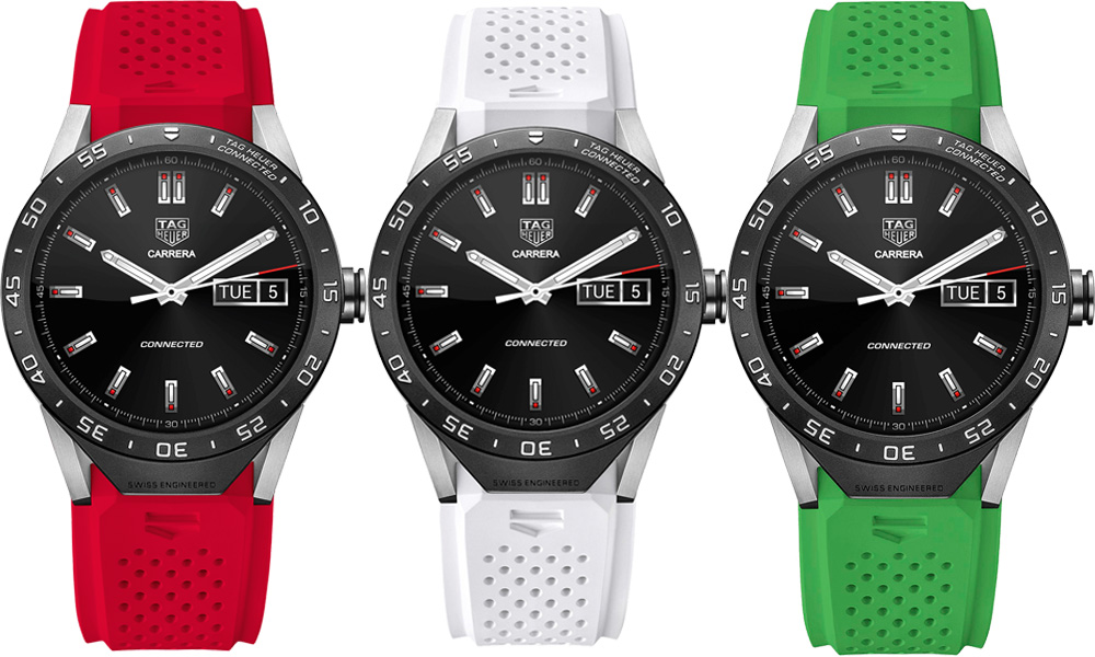 Tag Heuer Connected straps 7 colours