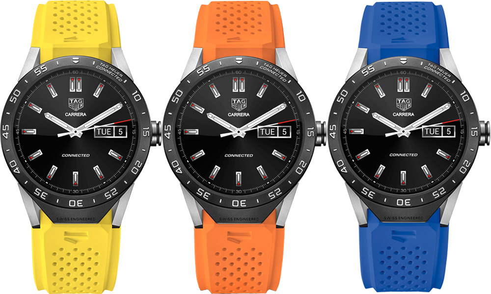 Tag Heuer Connected straps colours