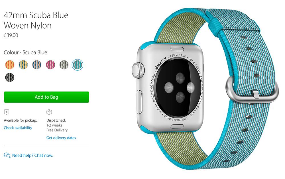 Apple Watch 2 with new bracelet