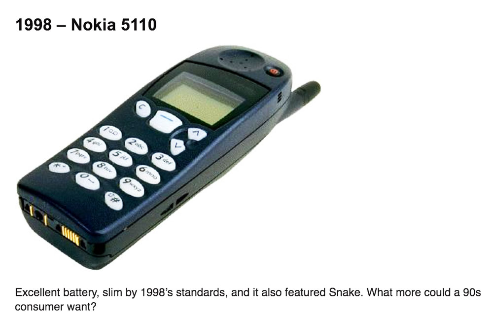 Intel Fashion Innovation - Nokia 5110 was one of the 1st mobile phones in the world