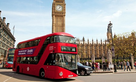 London buses are fitted with smart sensors to protect traffic pedestrians
