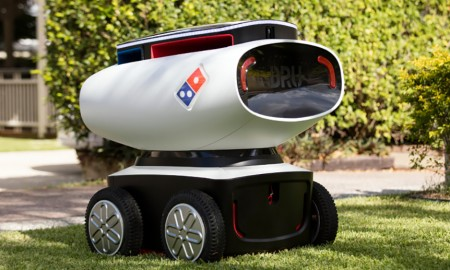 delivery robot domino pizza DRU