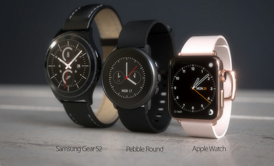 apple watch vs pebble time round vs samsung gear s2