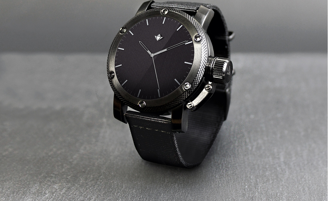 henlen commander watch black
