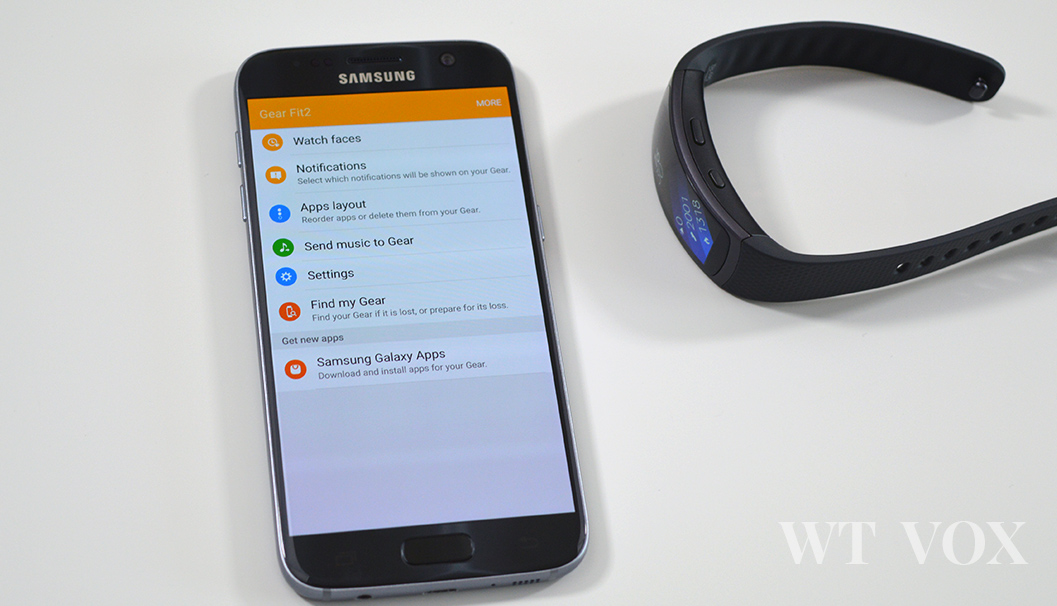 Samsung Gear Fit2 gear app
