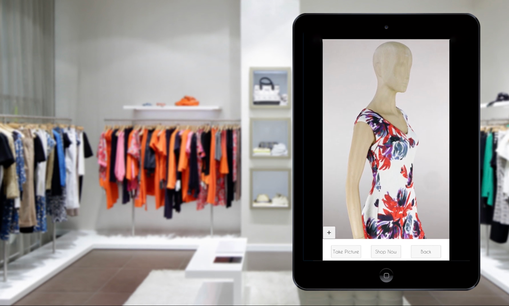 Ipad device showing Fashion RetailTech on the screen