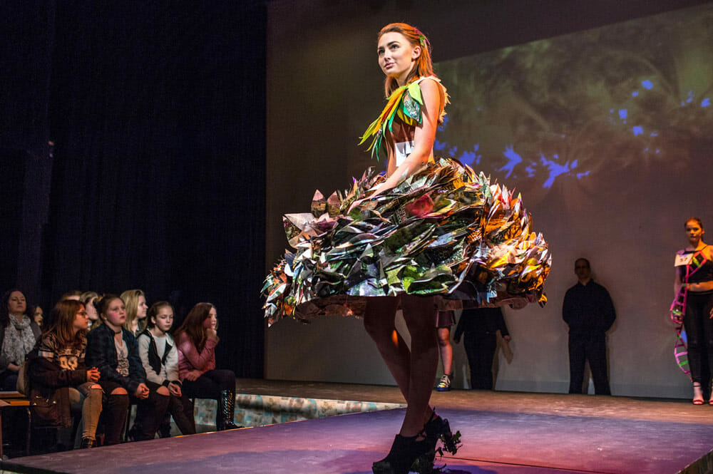 Circular Fashion Trends And What Consumers Think - WTVOX Research Impact - a fashion show where clothes made of used and recycled materials are being shown as a movement in circular fashion