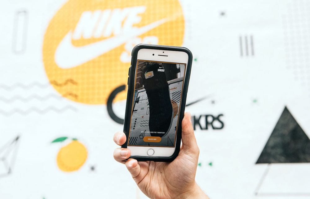 Augmented Reality Sneakers - nike AR app