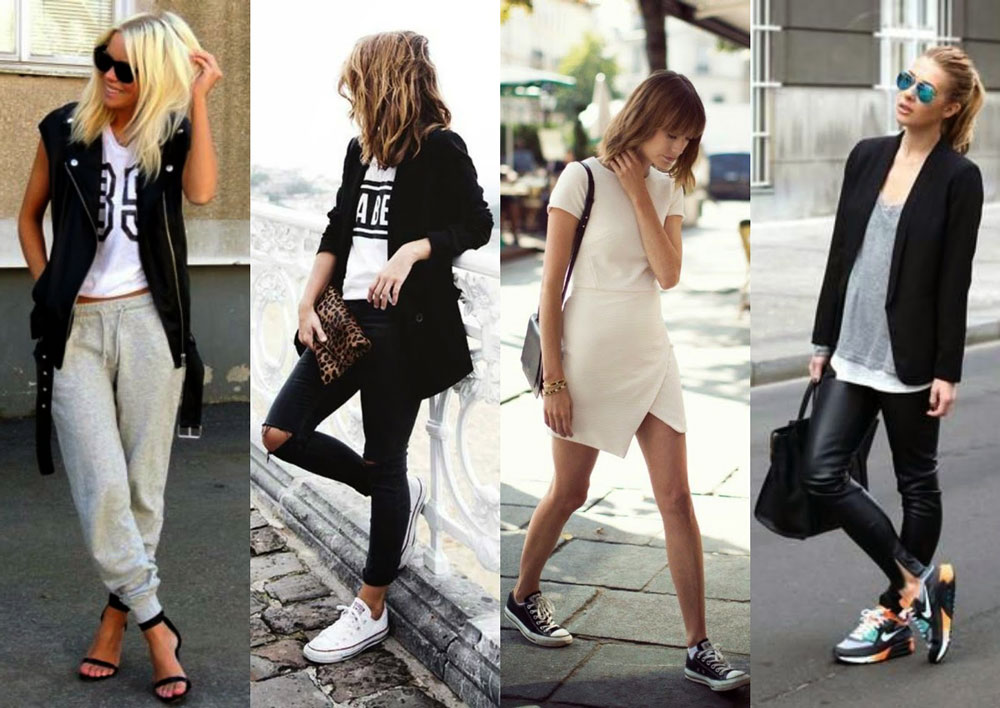 Athleisure Fashion - 4 girls dressed in very trendy sustainable athleisure outfits