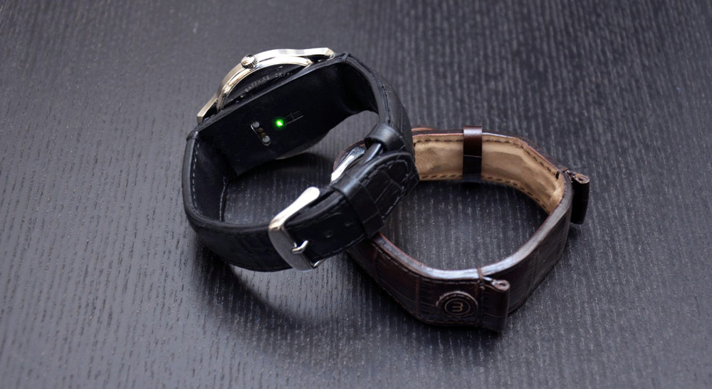 Latest Innovations in Wearable Technology - Classi smartwatch strap is a leather smart strap that gives your watch smart features