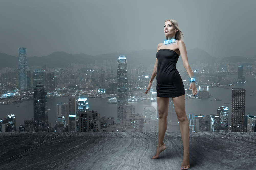 FashionTech - woman overlooking a big city