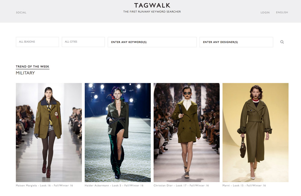 Tagwalk calls itself the world's first fashion search engine