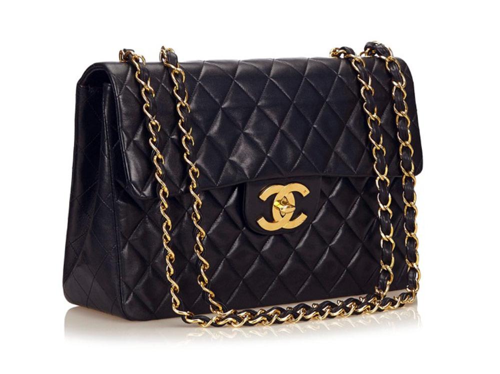 Second hand clothes - CHANEL Black Maxi Classic Flap Bag