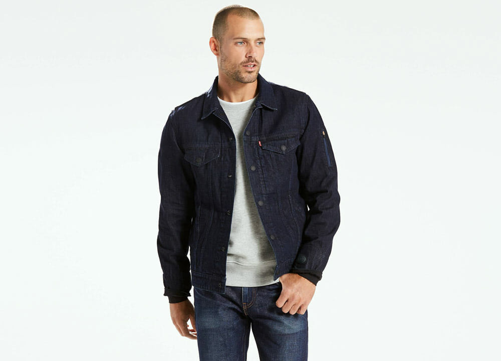Top 5 Fashion Tech Outdoor Clothing - Levi's Commuter X Jacquard By Google for men