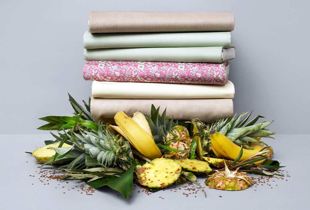 Positive Luxury - textiles made from pineapple and bananas skins