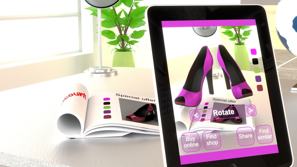 Augmented Reality Retail - luxury shoes for ladies customised with augmented reality app