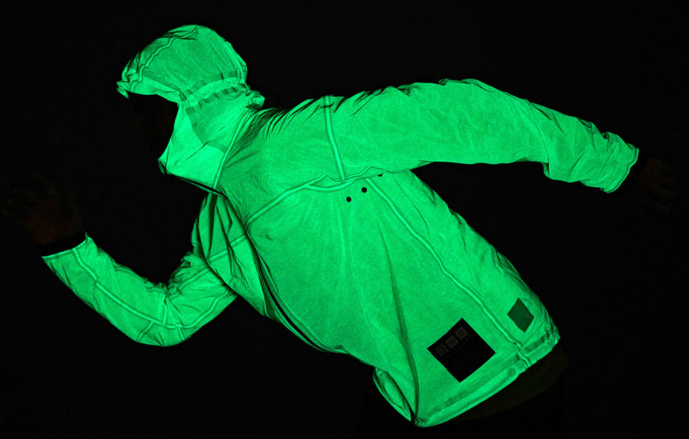 Top 5 Fashion Tech Outdoor Clothing - Vollebak Solar Charged Jacket glows in the dark