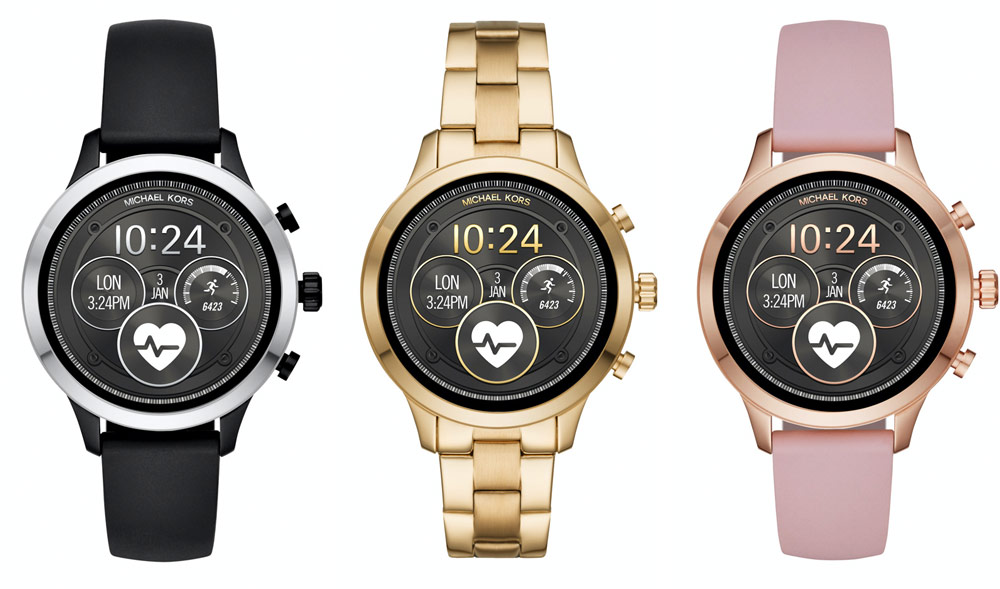 Michael Kors Access Runway Smartwatch - black gold and pink