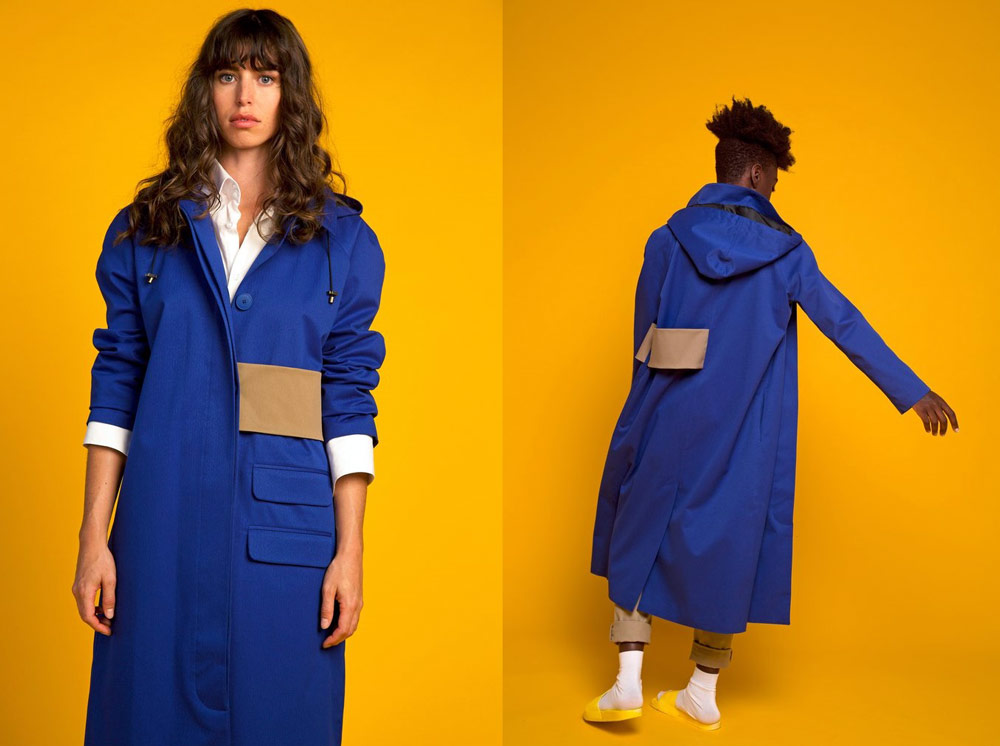 Waterproof clothing from recycled plastic bottles - Okewa Column Coat