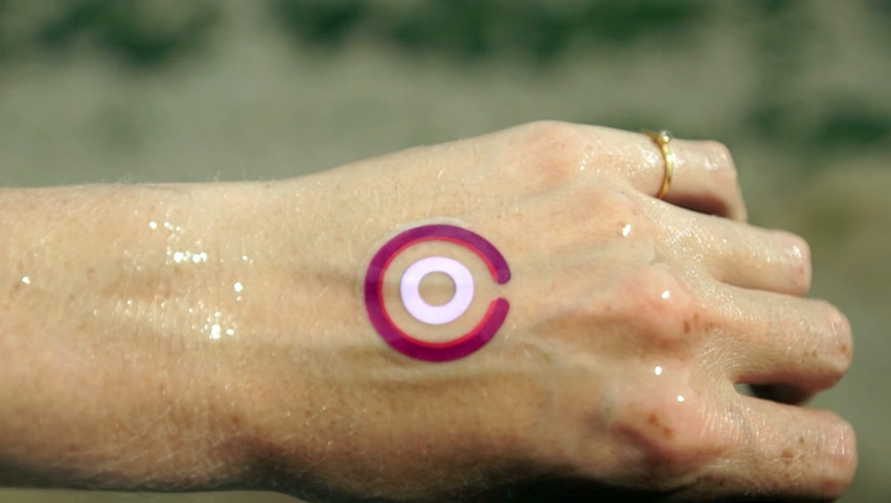 LogicInk UV temporary tattoos to show UV exposure