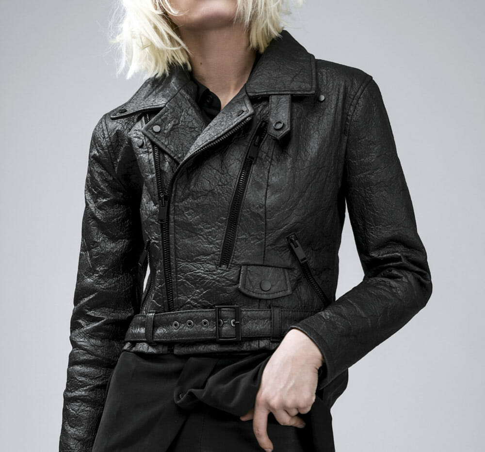 Vegan leather jacket - Altiir pinatex neo-classic black biker