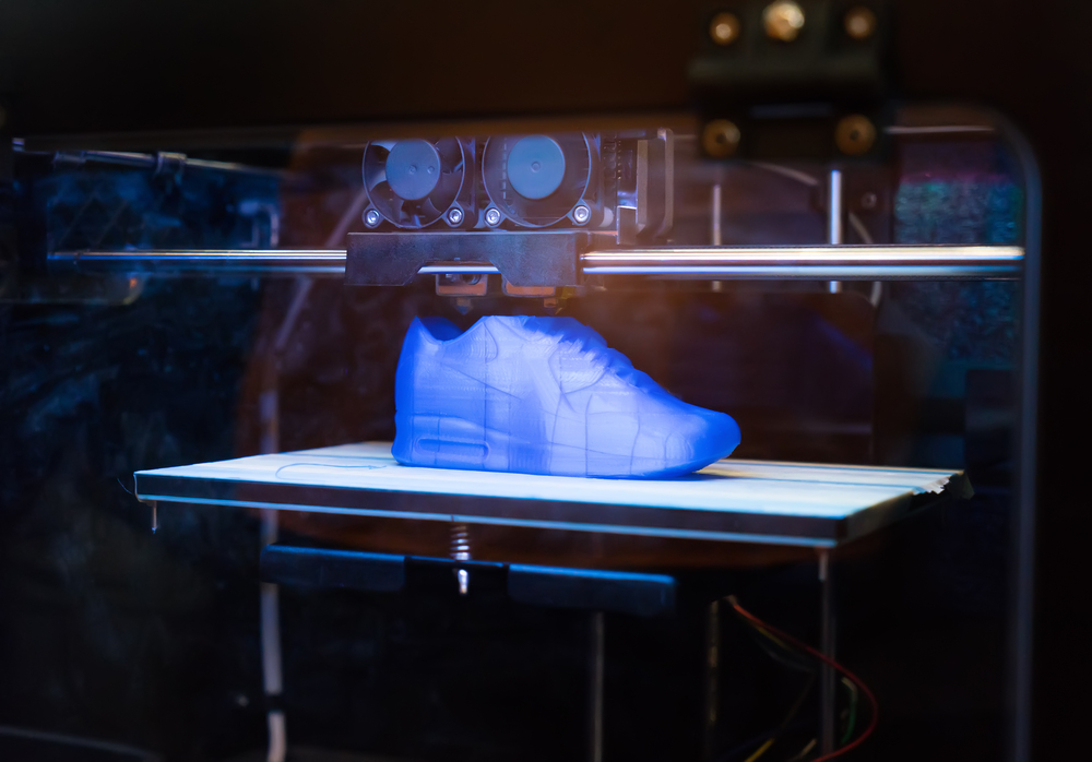 3D printed shoe by new 3d printing techniques