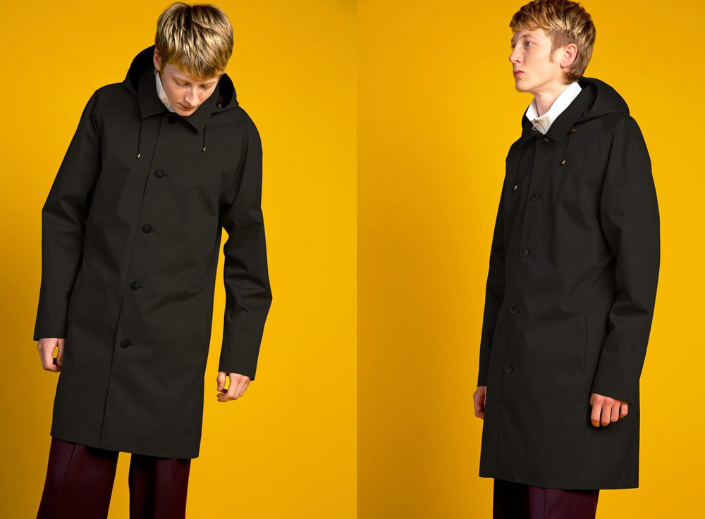 Waterproof clothing from recycled plastic bottles - Okewa Slim Overcoat