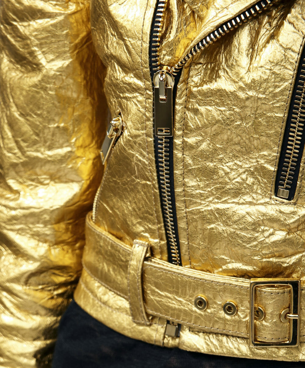 Vegan leather jacket - Pinatex gold altiir jacket