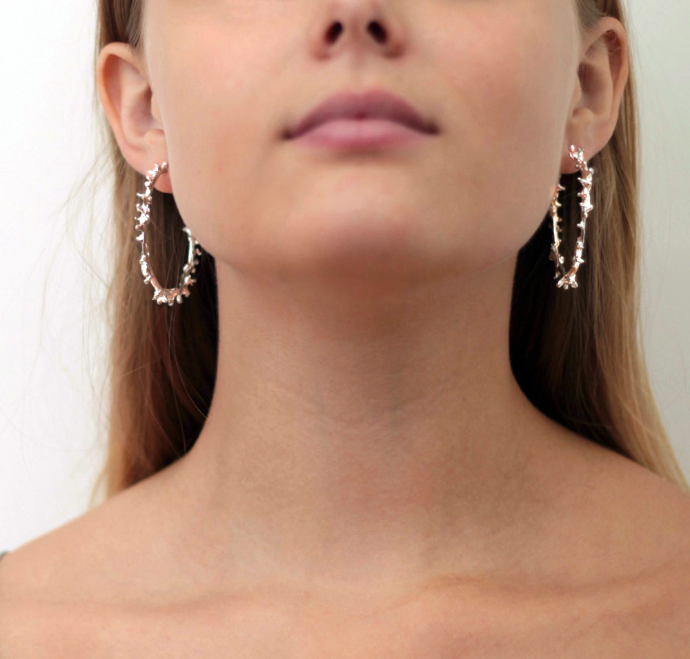 E-waste Jewellery by Lylie's - The Oria Coral Hoops