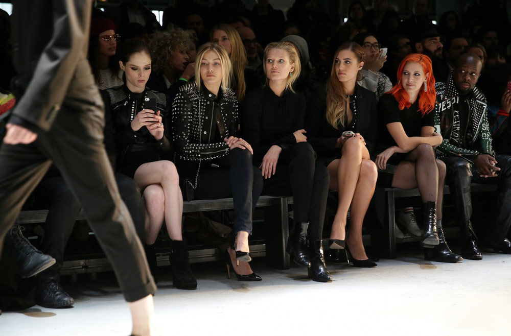 Mega Fashion Shows - social media influencers, first row on the catwalk