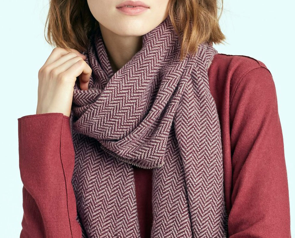 sustainable clothing collection for autumn - Eileen Fisher scarf
