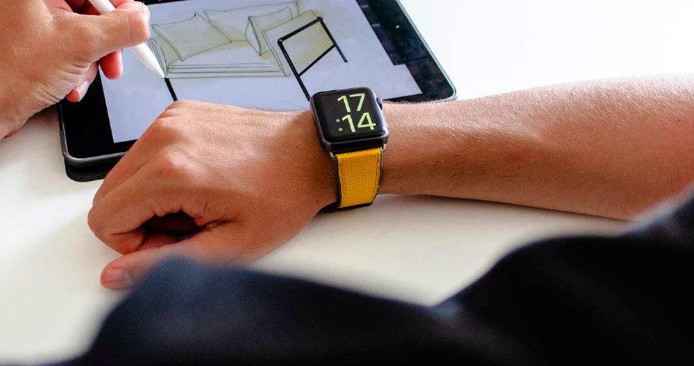 Meridio Apple Watch Band Yellow