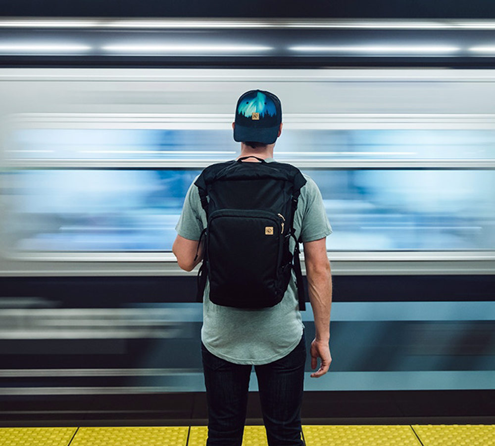 Mobius multifunctional backpack for daily commuters