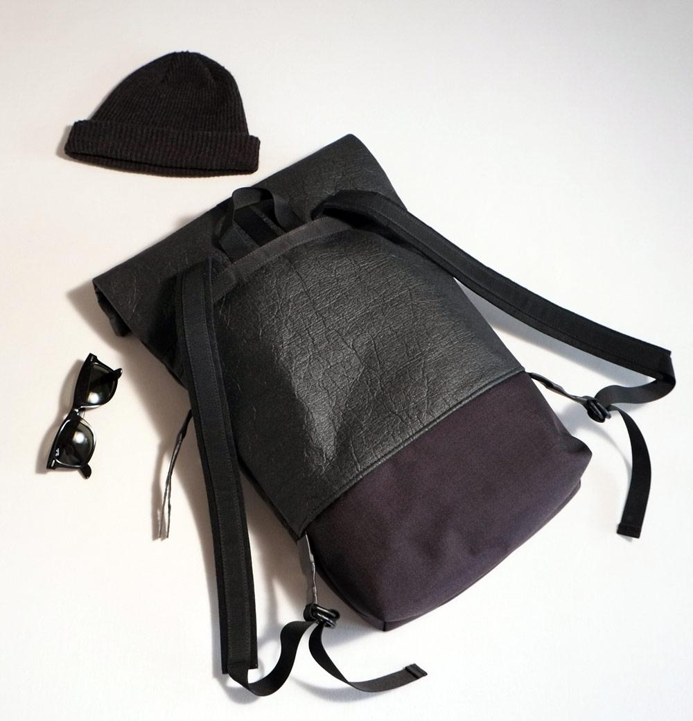 Best Vegan Bags - Eve and Adis Pinatex fold Backpack - Back