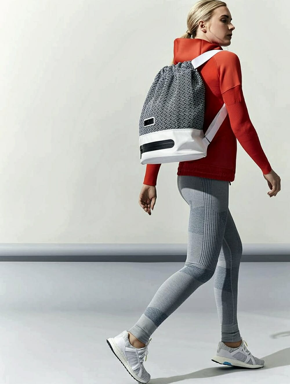 Eco-Friendly Activewear - Adidas by Stella grey, white and red style