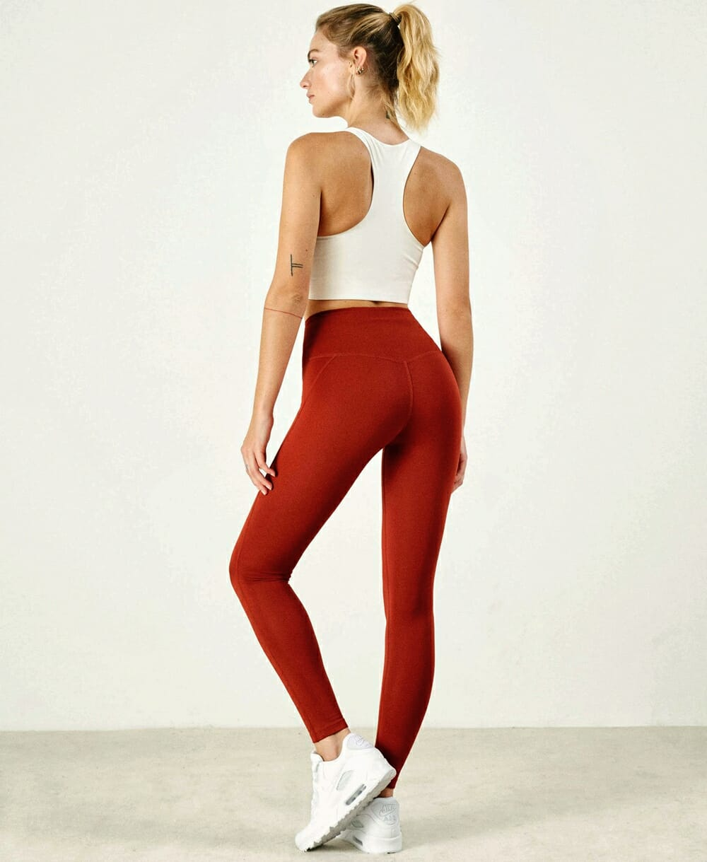 Eco-Friendly Activewear - Girlfriend Collective red and white