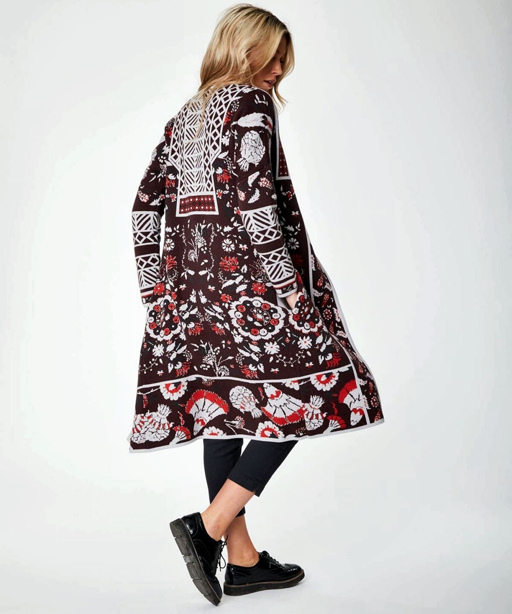 Eco-Friendly Autumn Jackets For Women - Olivia Organic Cotton Cardigan Coataubergine