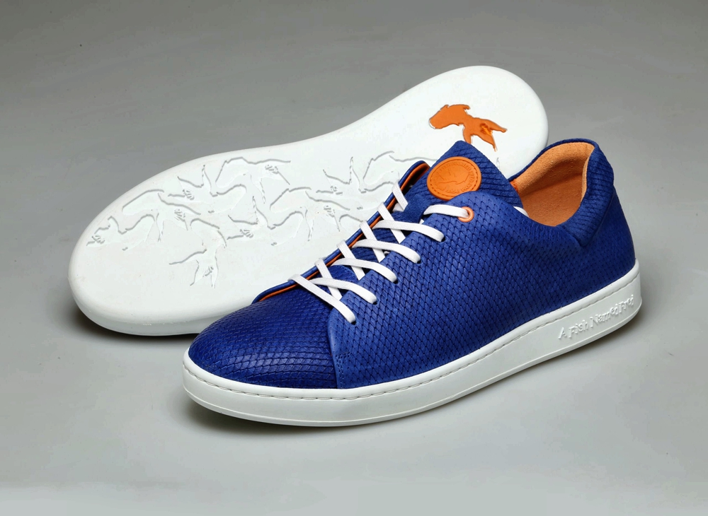 Fish Skin Fashion - blue luxury trainers