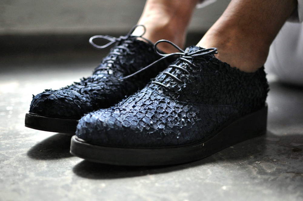 Fish Skin Fashion - black luxury shoes