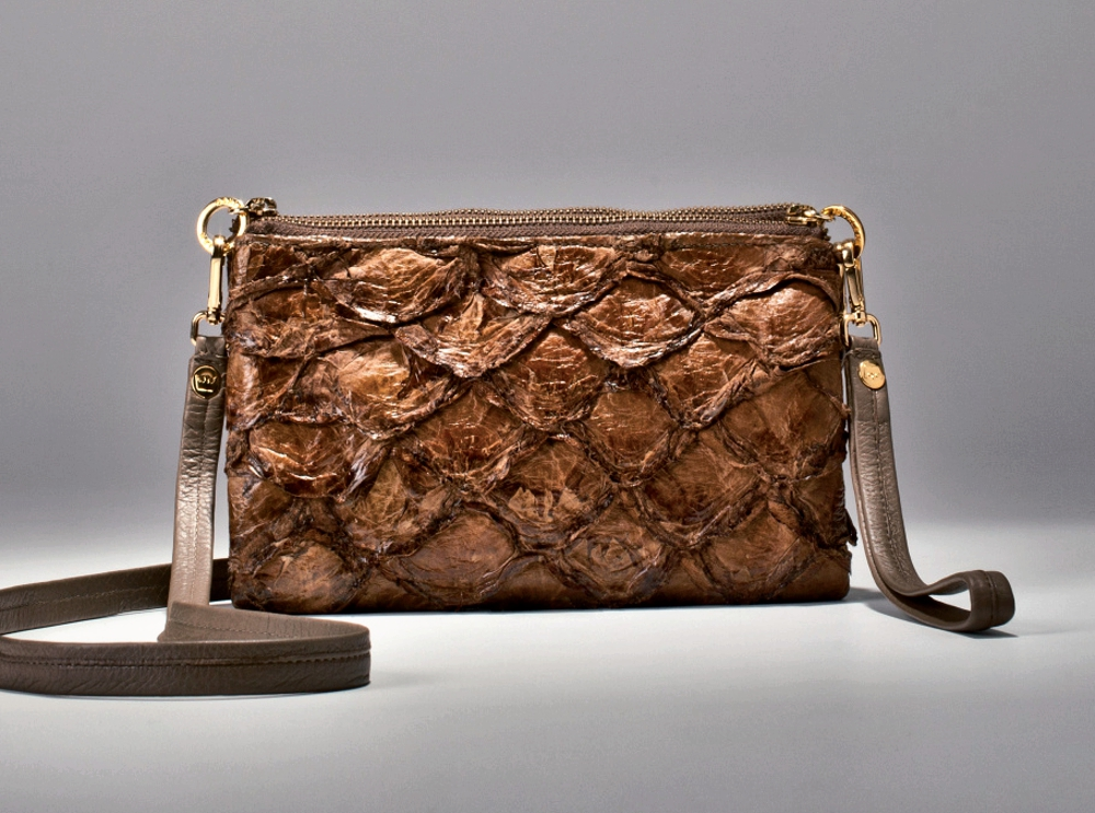 Fish Skin Fashion - brown luxury bag