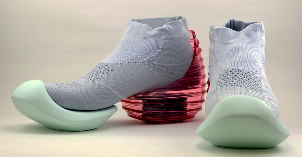 Mikio Sakabe's 3D Printed Shoes - Giddy up light blue shoes