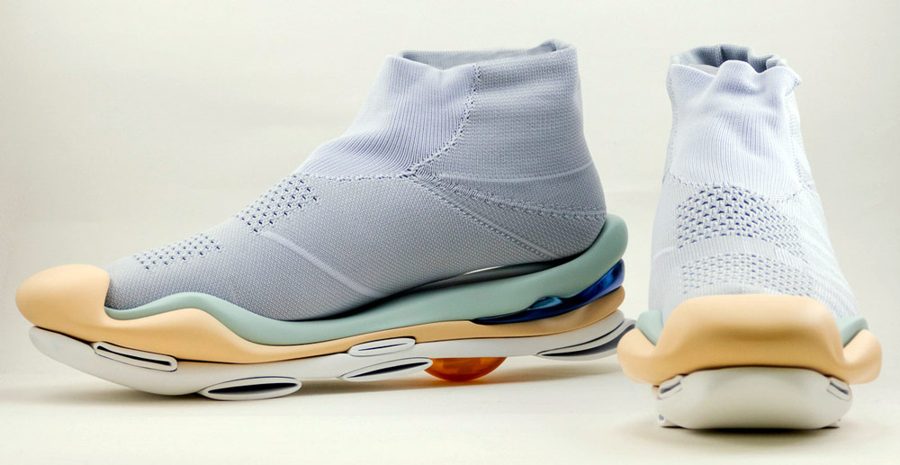 Mikio Sakabe's 3D Printed Shoes - Giddy up light blue